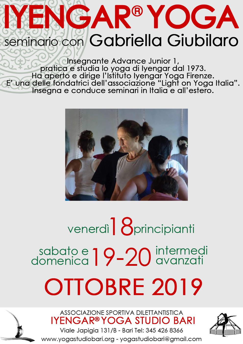 Seminario con Gabriella Giubilaro – 2019