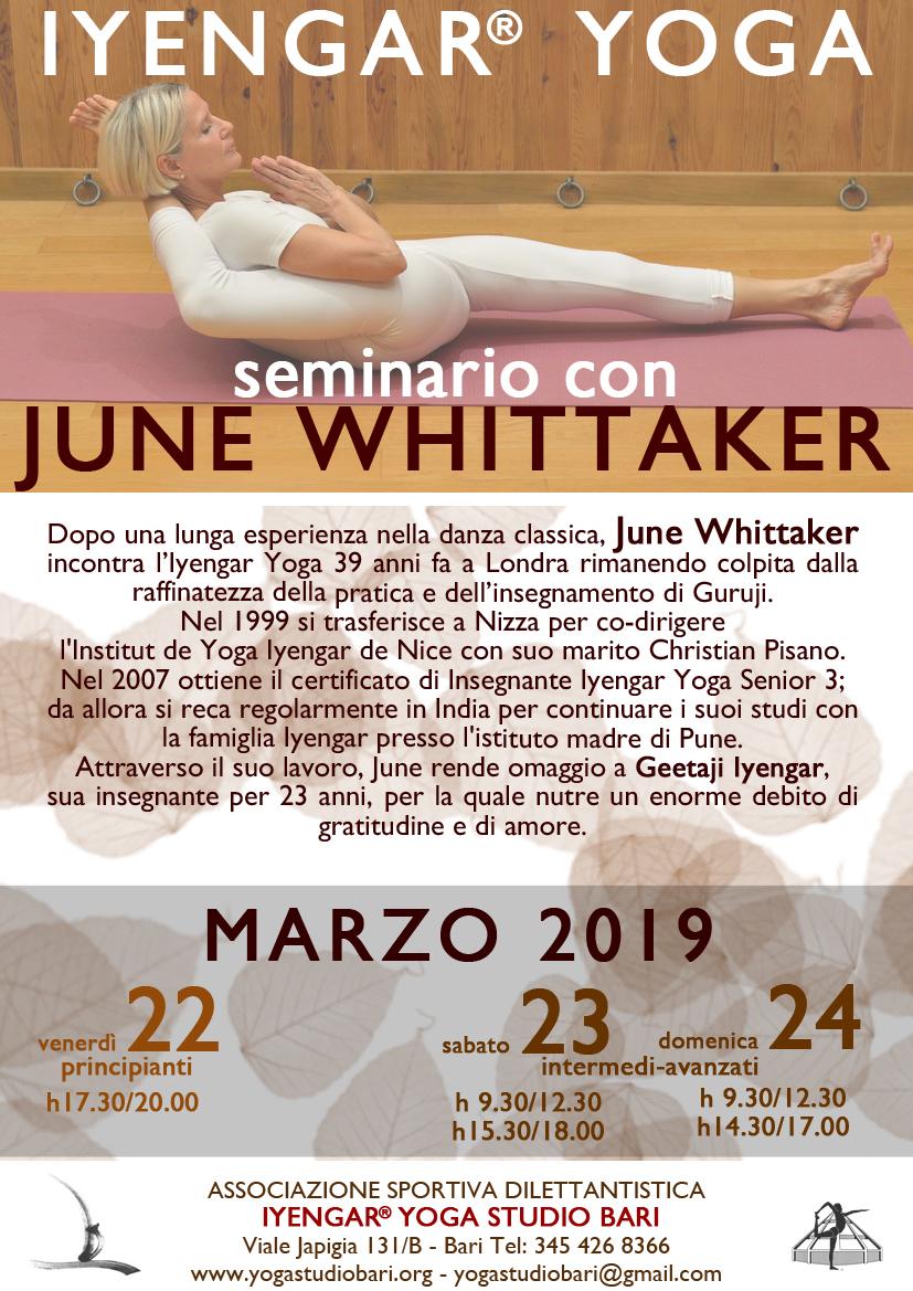Seminario June Whittaker – 2019